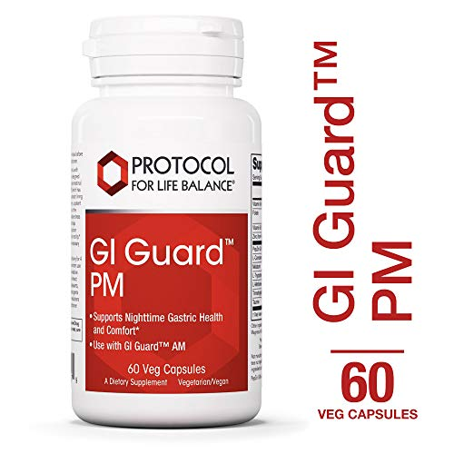 Cheap Protocol For Life Balance – GI Guard™ PM – with PepZin GI®, Melatonin, L-Tryptophan & B Vitamins to Support Gastrointestinal Processes at Night – 60 Veg Capsules