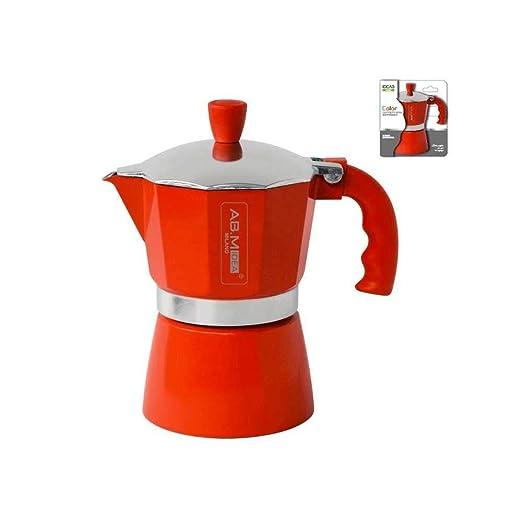 girm® - hx915736 Cafetera Roja - 1 taza - Moka colorata para café ...
