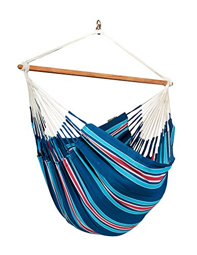 LA SIESTA Currambera Blueberry – Cotton Lounger Swing Hammock Chair