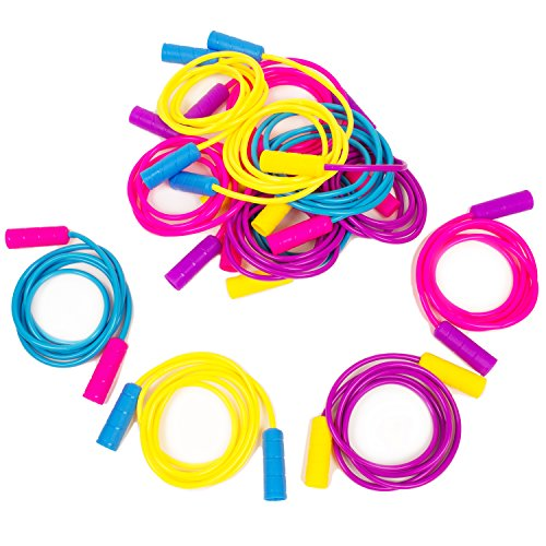 Boley 12 Pack Jump Rope Set - Bundle of Colorful Outdoor Jump Ropes for Kids Physical Education - Great As Party Favors, Party Packs, Birthday Gifts, Goodie Bag Fillers, and More! - Jump Rope Tree