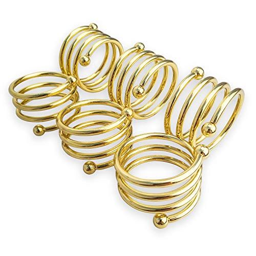 AmpleSky Napkin Rings Holder for Dinner Parties Everyday Pack of 6