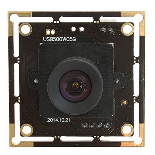 5 MP USB Camera with Aptina Cmos Sensor HD 5 Megapixel 2592X1944 USB with Webcamera 100 Degree Undistorted Imaging Webcam for Industrial, Machine Vision,Correctable,Plug&Play USB2.0 Web Cameras