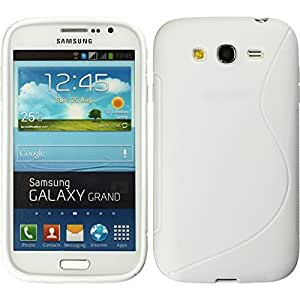 CellMACsTM S-Line TPU Rubber Gel Case Cover for Samsung Galaxy Grand Duos i9080 i9082 - White