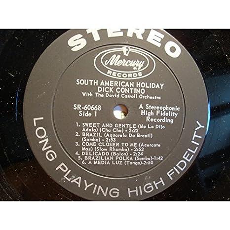 DICK CONTINO south american holiday DAVID CAROLL LP Mecury VG++: ...