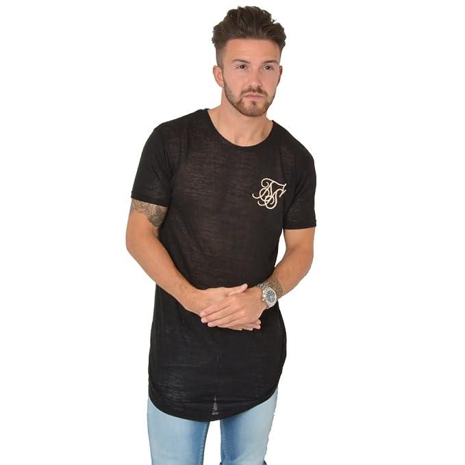 SikSilk - Camiseta de tirantes - Manga corta - para hombre Negro negro XL: Amazon.es: Ropa y accesorios