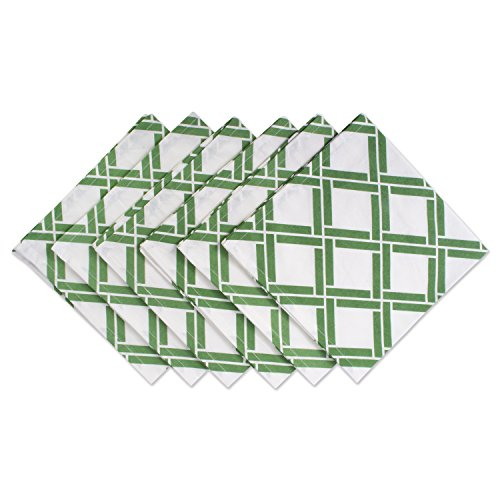 DII Cotton Print Napkin for for Dinner Parties, Weddings & Everyday Use, Set, Bamboo Lattice