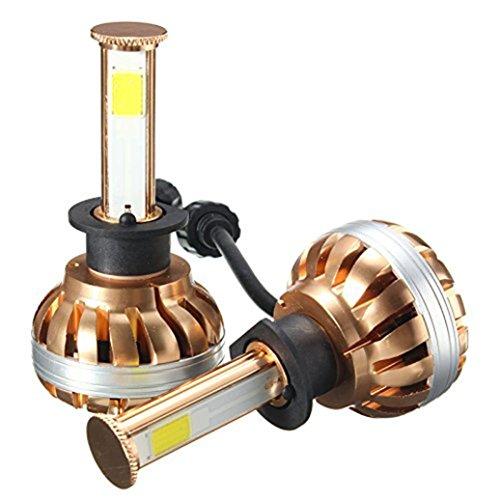 Car LED Headlight Kit - Jushye NEW H1 120W LED Headlight Kit 6000K White Car Bulb Lamp Light With 2 X LED lights , 2 X LED drivers , 1 X packing box (Chameleon Outdoor Wall Bracket)