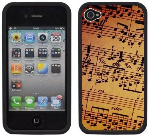 Partition | Fait à la main | iPhone 4 4s | Etui Housse noir