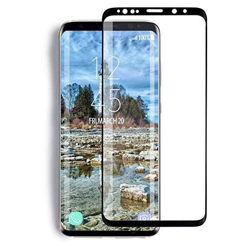 Galaxy S9 Plus Screen Protector,ELYAN Full Coverage Tempered Glass[3D Curved] [Anti-Scratch] [Anti-Bubble][High Definition] Tempered Glass Screen Protector Compatible Samsung Galaxy S9 Plus(6.2)