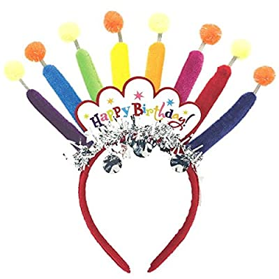 Happy Birthday Candle Headband   Royalty Collection