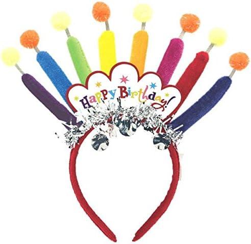 Amazon.com: Amscan Majestic Feliz cumpleaños Vela Diadema ...