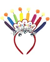 """Amscan Majestic Happy Birthday Candle Headband Party Wearable Favors Headwear, Multicolor, 11"""" x 7"""""""