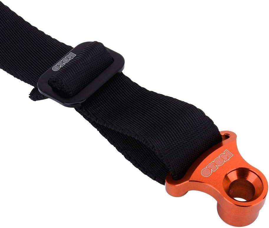 Orange Motorcycle Rear Rescue Strap Sling Pull Belt Heavy-Duty Break Strength Securing Straps Universal For Dirt Bike