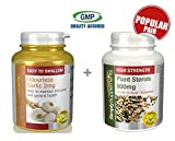 SimplySupplements Odourless Garlic 2mg 360 Capsules + Plant Sterols 800mg 360 Tablets by SimplySupplements