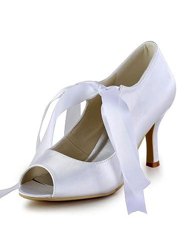 Satin Wedding Stiletto Heel Heels Sandals With Ribbon Tie Shoes For Women