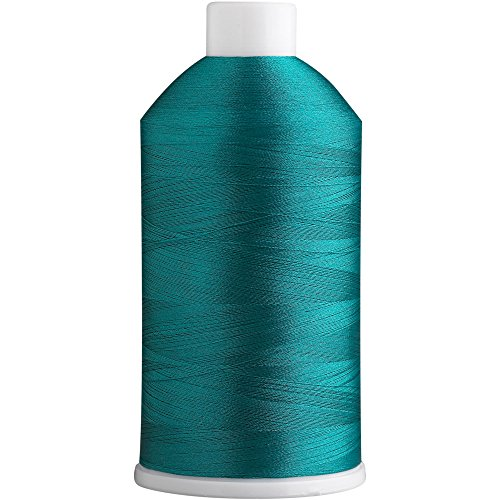 Superb Polyester Embroidery Thread 40wt 5000m. Teal Green 447