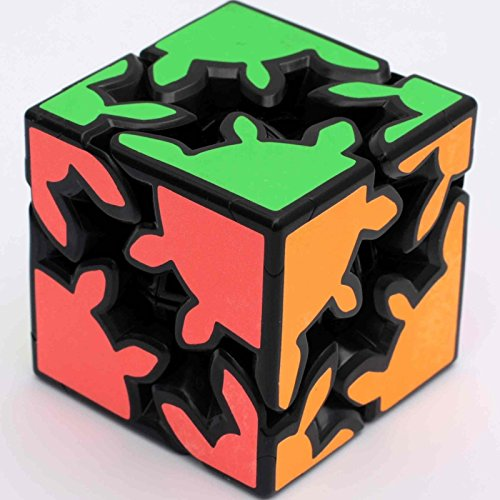 Children Education Toy Gear 2x2 Dodecahedr Cube Black Magic Cube Puzzle Toy Gift(60mm) - Gear Shift Puzzle Cube