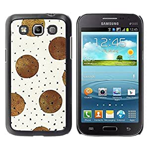 All Phone Most Case / Hard PC Metal piece Shell Slim Cover Protective Case for Samsung Galaxy Win I8550 I8552 Grand Quattro Brown Black Polka Dot Pattern Beige