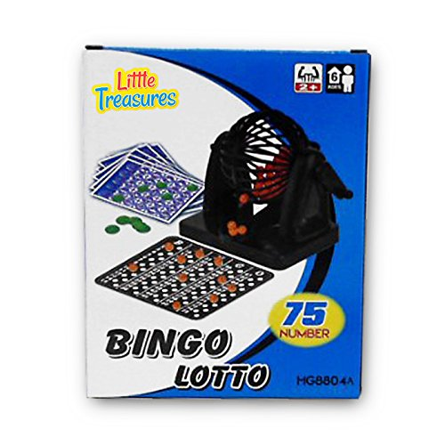 Bingo Cage Game Deluxe (Bingo Game an Educational 75 Number Bingo Board Game Lottery Party Game (2 to 10 players ? Ages 6 +))