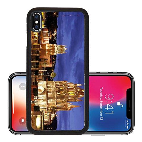 Liili Premium Apple iPhone X Aluminum Backplate Bumper Snap Case The La Parroquia and Templo de San Rafael on the main square of San Miguel Photo - Rafael Stores San