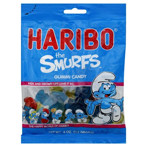 Haribo Gummi Candy The Smurfs 4 OZ (Pack of 24) by Haribo
