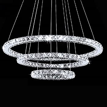 meerosee modern crystal chandeliers d276197118 led pendant - Modern Crystal Chandeliers