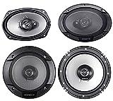 """Best Kenwood Car Door Speakers - (2) Kenwood KFC-6966S 6x9 800 Watt+(2) 6.5"""" 600 Review"""