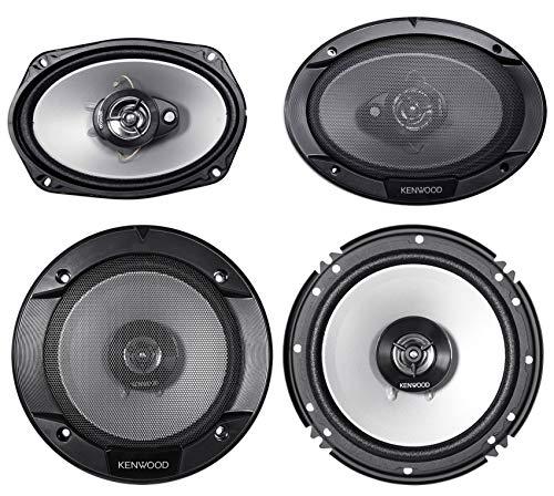 (2) Kenwood KFC-6966S 6×9 800 Watt+(2) 6.5″ 600 Watt Car Audio Coaxial Speakers