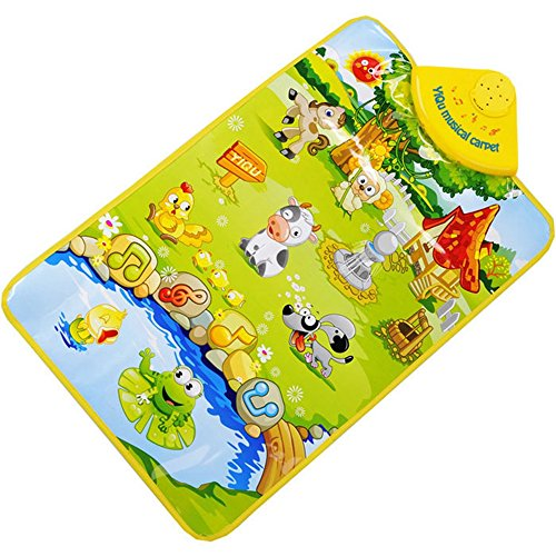ld Farm Animal Musical Music Touch Play Singing Gym Carpet Mat Gift ()