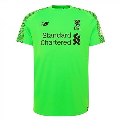 more photos 5347c 9f624 New Balance 2018-2019 Liverpool Away Short Sleeve Goalkeeper Football  Soccer T-Shirt Jersey (Green)