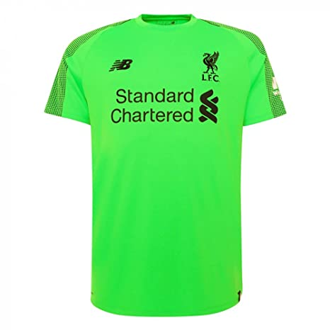 4b76bd8578a New Balance Liverpool FC Short Sleeve Mens Football Away Goalkeerer Shirt  18 19 LFC Official