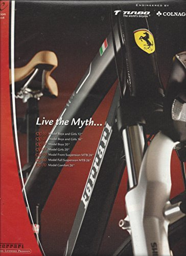 MAGAZINE ADVERTISEMENT For 2007 Ferrari CX Collection Bicycles