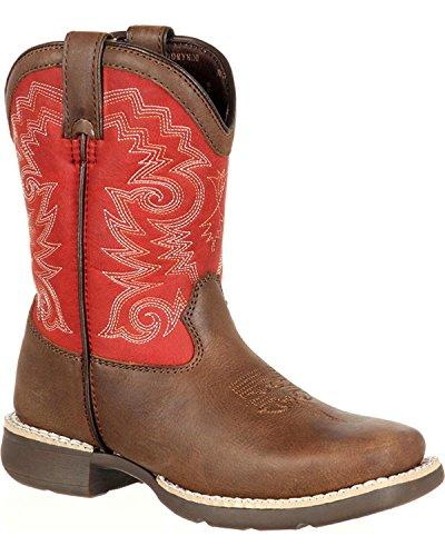 Durango Unisex DBT0140 Western Boot, Brown/red, 6 M US Big Kid ()