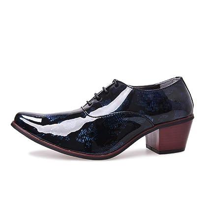 da270a9f82b6 Amazon.com: Starttwin Dress Shoes for Men High Heels 5cm Pointed Toe ...