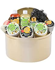Bff Beauty Spa Gift Baskets for Women - Luxury 10pcs Home Spa Set -Vanilla Scent Spa kit with Delicate Jewelry Box - Includes Bubble Bath, Bath Salt, Body Lotion, Spa Gifts for Women Birthday Gift