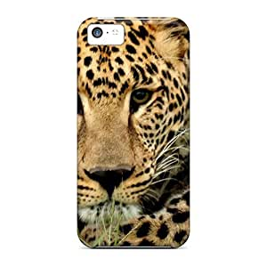 Slim Fit Tpu Protector Shock Absorbent Bumper Approaching Leopard Case For Iphone 5c