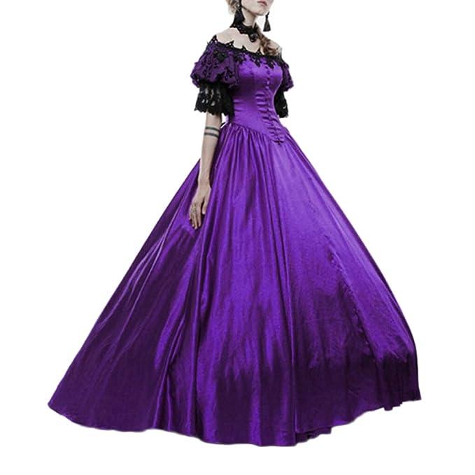 GladiolusA Disfraz De Medieval para Mujer Vestido ...