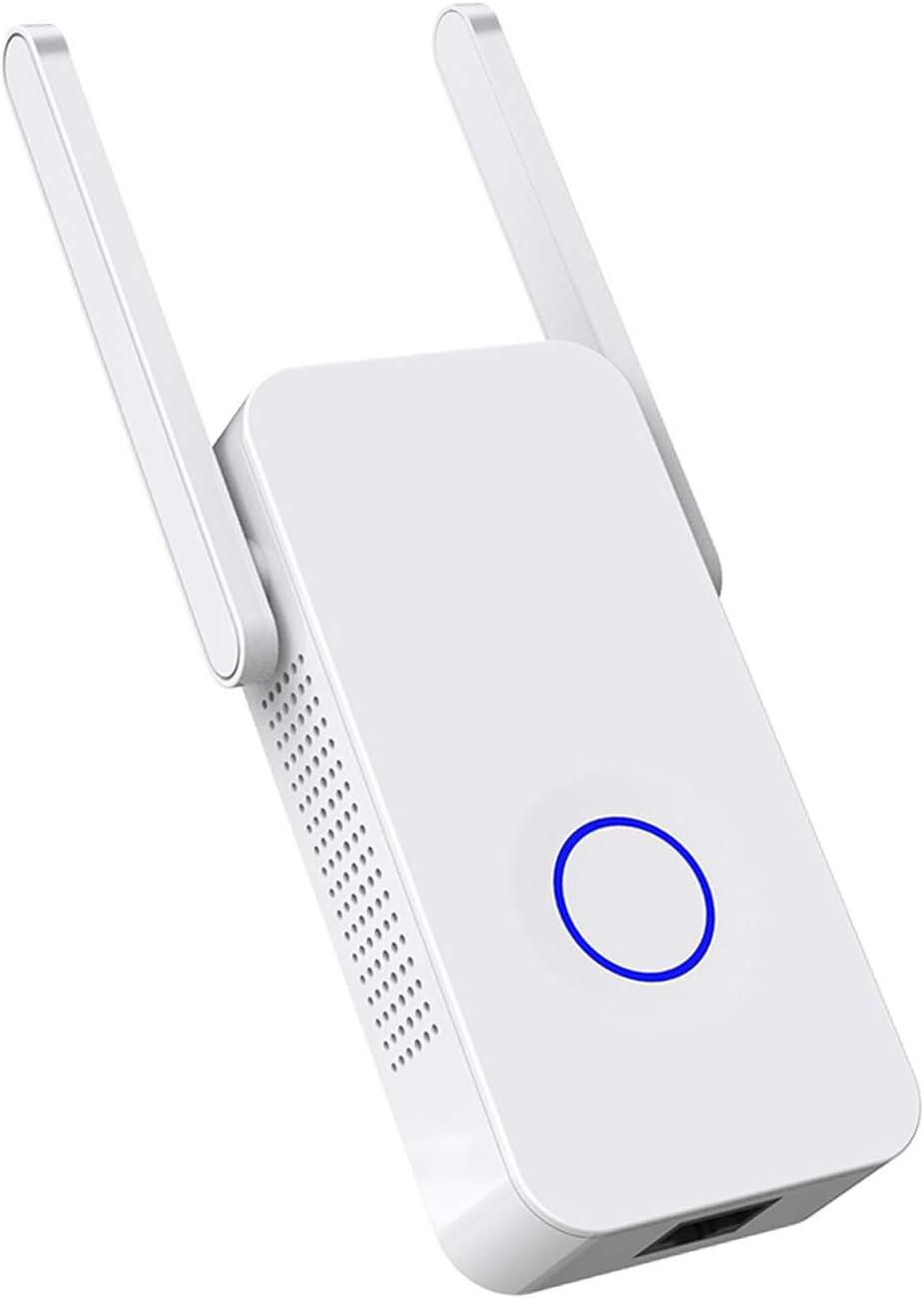 ACTGON Repetidor Extensor de Red WiFi Amplificador 1200Mbps Dual Band Inalámbrico WiFi Booster con Antenas Duales Apoyo Ap/Repetidor/Enrutador Modo