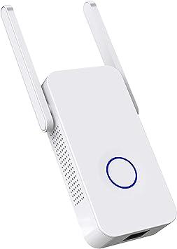 ACTGON Repetidor Extensor de Red 1200Mbps Dual Band WiFi Amplificador Inalámbrico WiFi Booster con Antenas Duales Apoyo Ap/Repetidor/Enrutador Modo