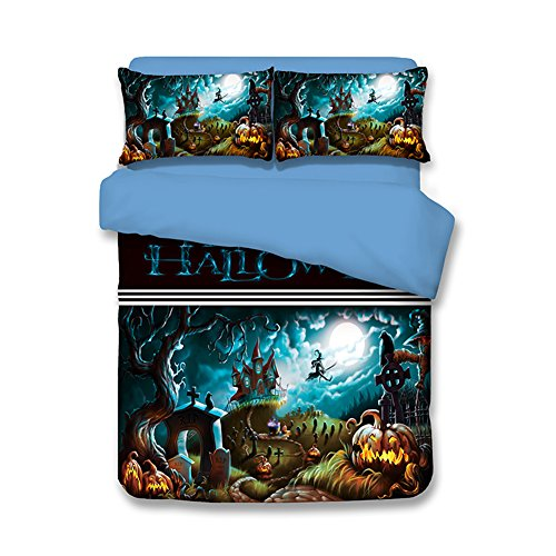 Holloween Bedding Sets Pumpkin Lanterns - MeMoreCool 100% Polyester Festival Decorations 3D Designs US Standard Size Twin by Sport Do
