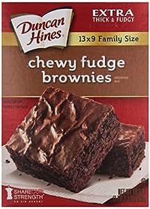 Amazon.com : Duncan Hines Brownie Mix, Chewy Fudge, 18.3
