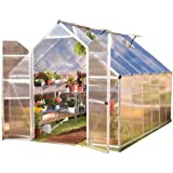 Palram Essence Hobby Greenhouse - 8' x 12' x 8', Silver