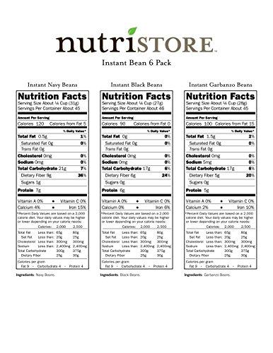 Instant-Bean-Variety-6-Pack-by-Nutristore-272-Total-Servings-Easy-to-Prepare-Survival-Food-Amazing-Taste