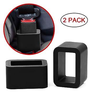 Amazon.com: morlike silicona hebilla de cinturón de asiento ...