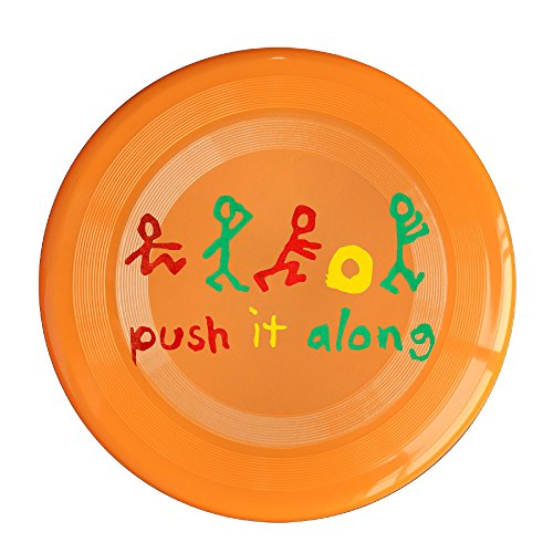 RCINC Push It Along Logo Outdoor Game Frisbee Flying Discs Orange