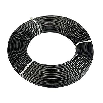 Cable de acero inoxidable de 0,95 cm, con revestimiento de ...