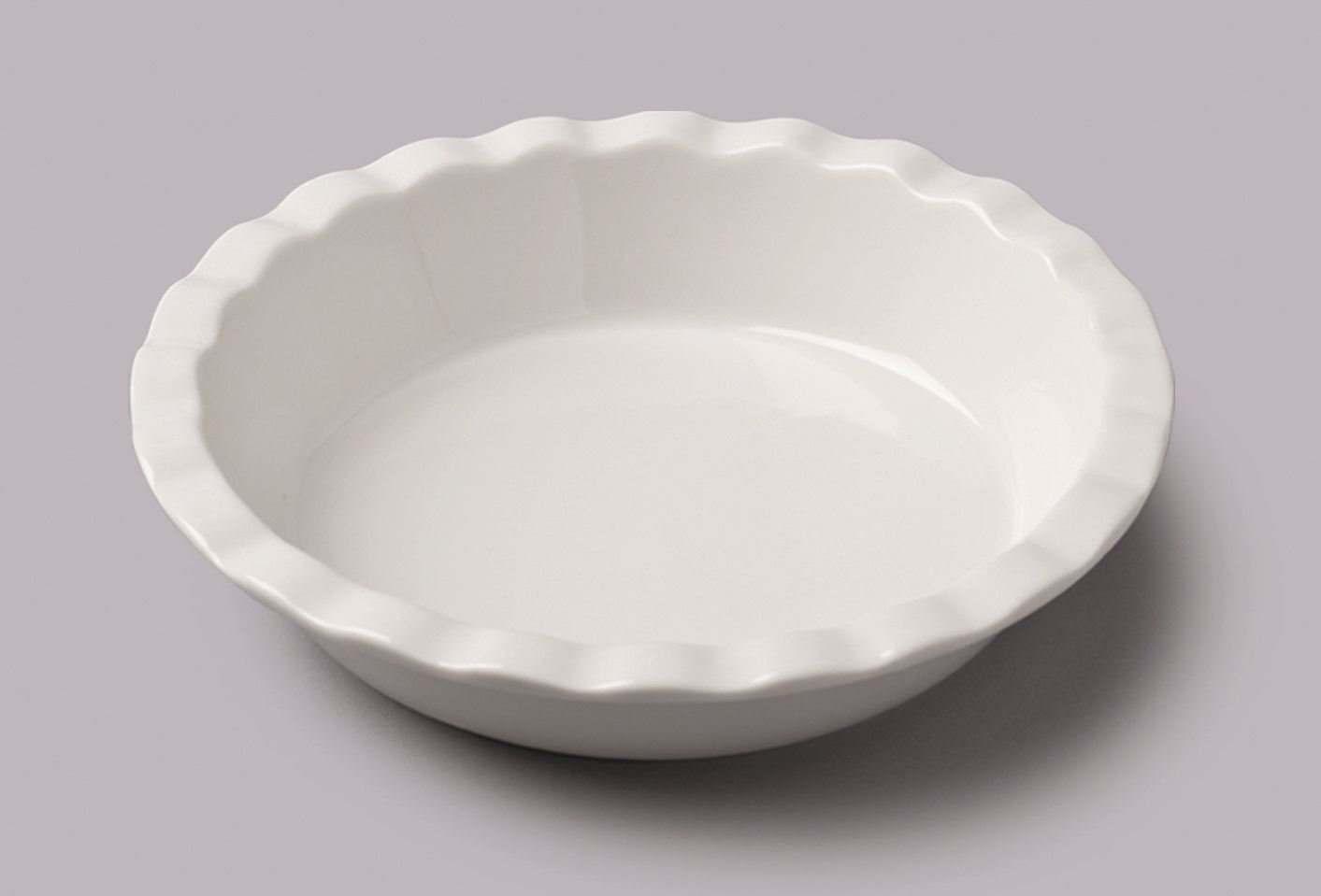 WM Bartleet and Sons Ceramic Ruffled Pie Dish 8''