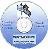 Software : Handy Label Maker Software Prints Mailing Address on Labels, Envelopes. Mail Invitations, Flyers, Christmas Cards. Contacts File, Address Book, Birthday Reminders. Windows PC/Laptop.