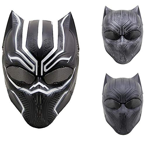 (JFFCESTORE Airsoft Full Face Protective Mask with Google and Seamless Headscarf Tactical Leopard Skeleton Masks Gear for t Paintball Outdoor Cs War Game BB Gun Ghost Halloween Party Mask(Black)