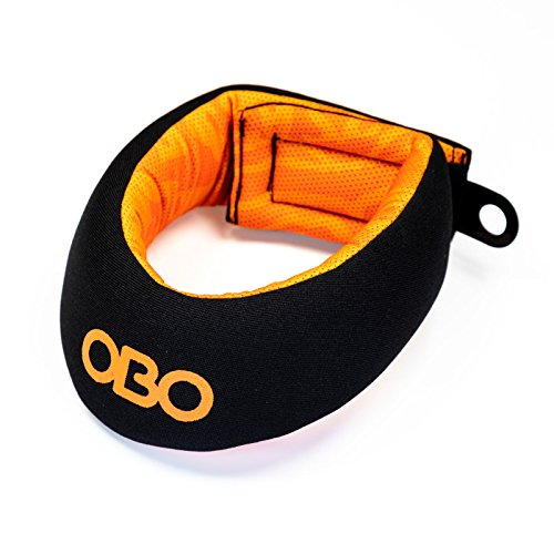 OBO Cloud Field Hockey Throat Protector (Black/Orange) - Goalie Neck